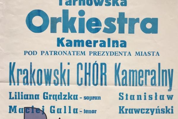 Maciej Gallas plakat archiwalny 1995