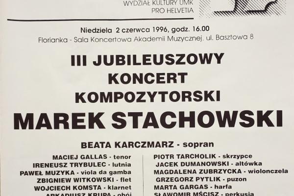 Maciej Gallas plakat archiwalny 1996