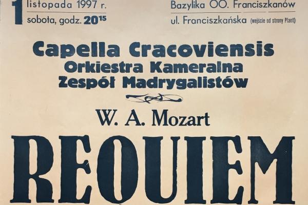 Maciej Gallas plakat archiwalny 1997