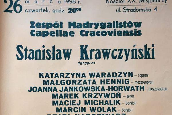 Maciej Gallas plakat archiwalny 1998