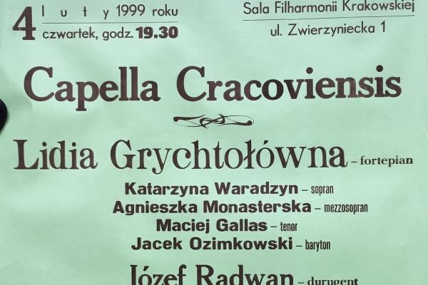 Maciej Gallas plakat archiwalny 1999