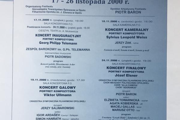 Maciej Gallas plakat archiwalny 2000