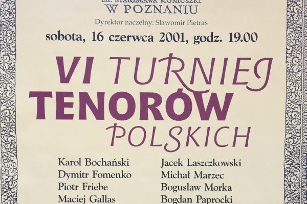 Maciej Gallas plakat archiwalny 2001