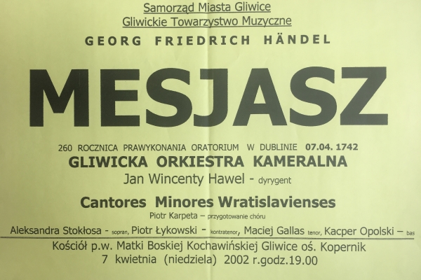 Maciej Gallas plakat archiwalny 2002