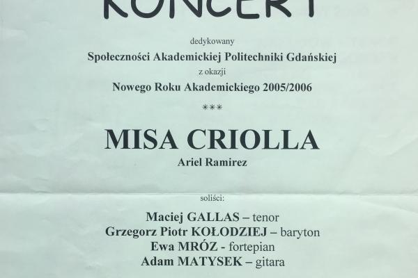 Maciej Gallas plakat archiwalny 2005