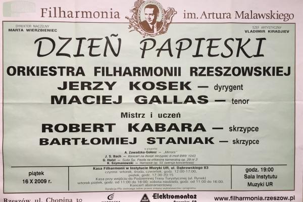 Maciej Gallas plakat archiwalny 2009