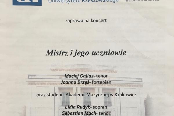 Maciej Gallas plakat archiwalny 2015