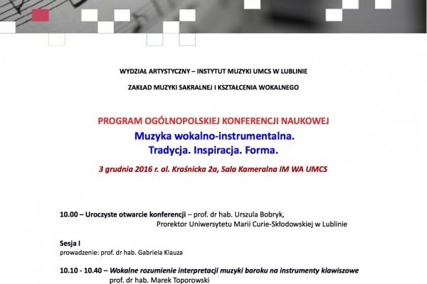 Maciej Gallas plakat archiwalny 2016