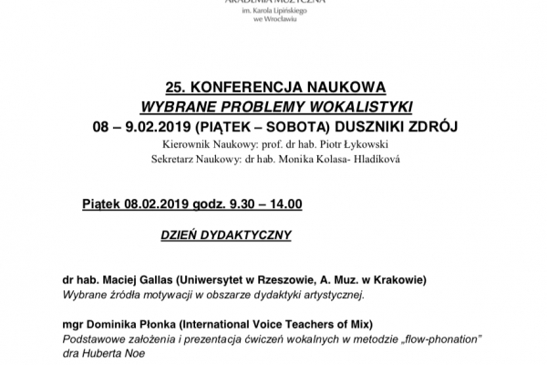 Maciej Gallas plakat archiwalny 2019